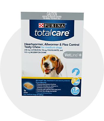 Dog Flea Tick Worming Purina Total Care