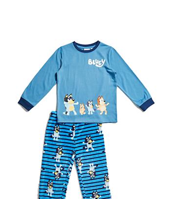blue kids bluey pyjama set