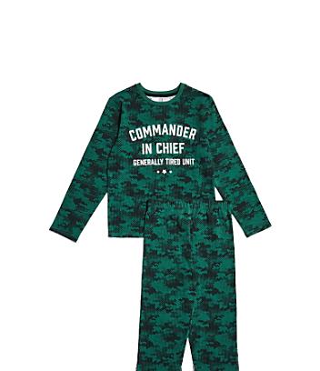 green kids pyjama set