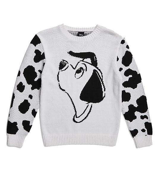 black and white 101 dalmatian kids jumper