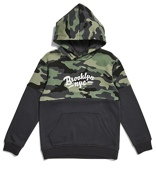 black and green camo boys hoodie