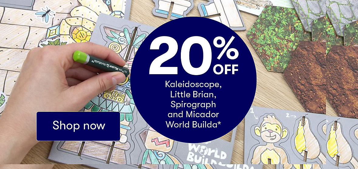 Shop 20% Off Selected Arts, Craft & Stationery Brands