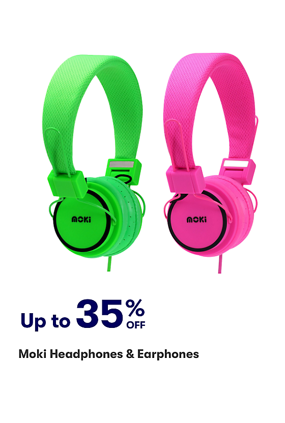 Save up to 35% on MOKI Headphones and Earphones