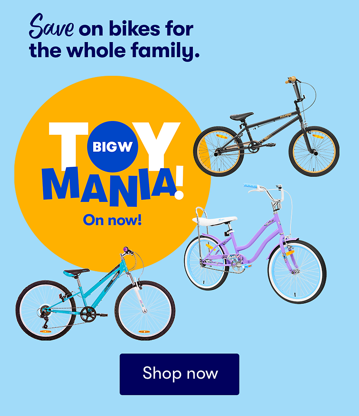 Save on Bikes for the Whole Family this Toy Mania