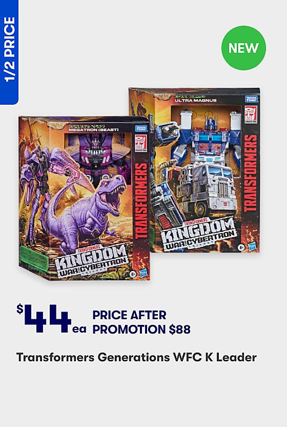 Half Price Transformers Generations Figures