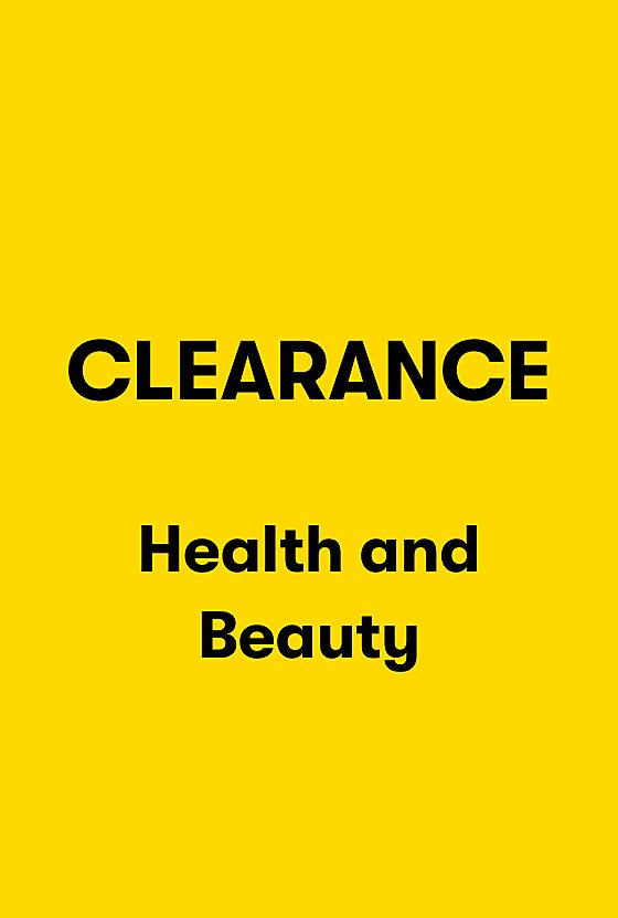 Clearance Health and Beauty