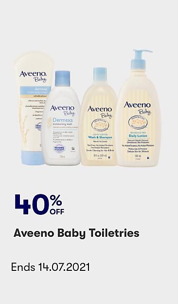 40% off Aveeno Baby Toiletries