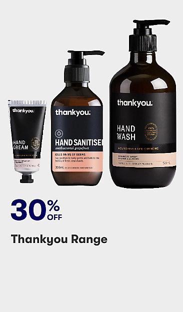 30% off Thankyou range
