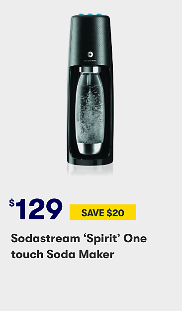 $129 Sodastream Spirit one touch soda maker
