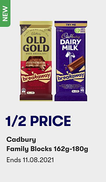 1/2 price Cadbury Family Blocks