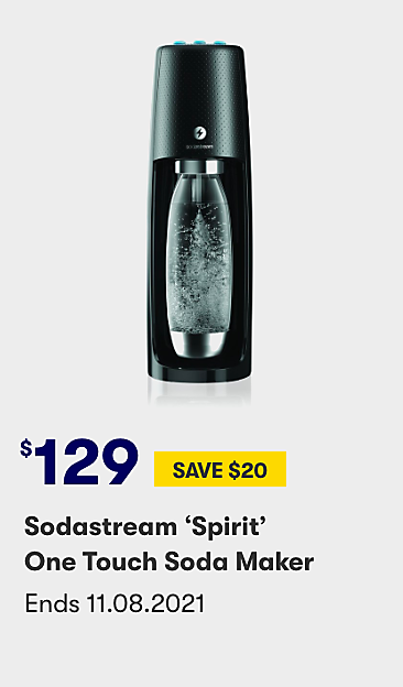$129 save $20 Sodastream Spirit one touch soda maker
