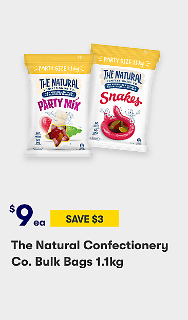 $9 The Natural Confectionery Co. bulk bags 1.1kg