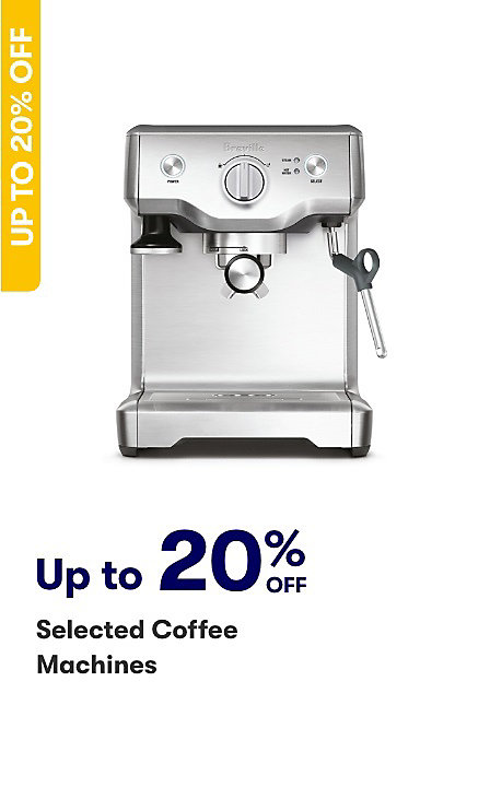 Save on selected coffee machines