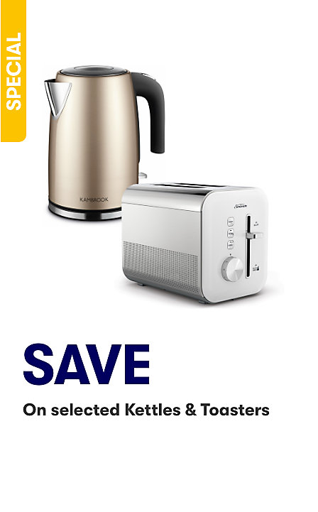 Save on selected Kettle and Toasters