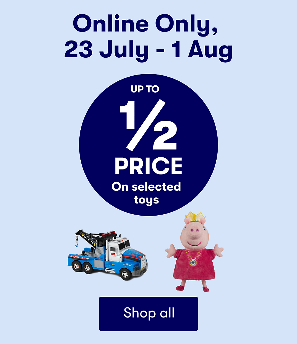 Save on selected Toys Online only
