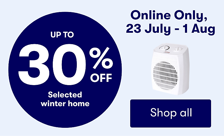Save on selected Winter Home Online only