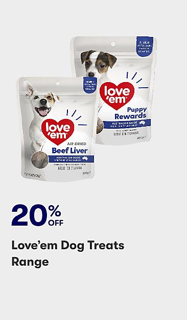 20% off Love'em dog treats range