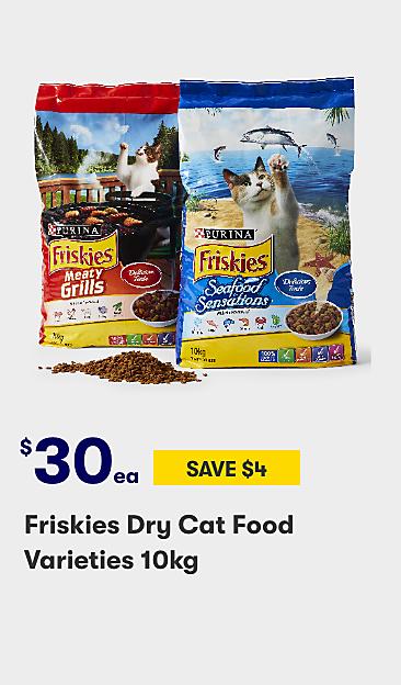 $30 Friskies dry cat food varieties 10kg