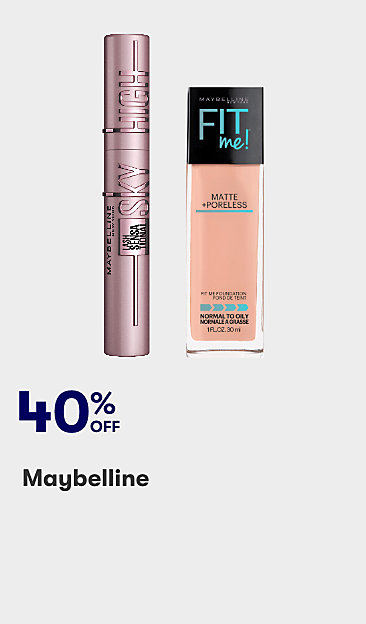 40% off Maybelline