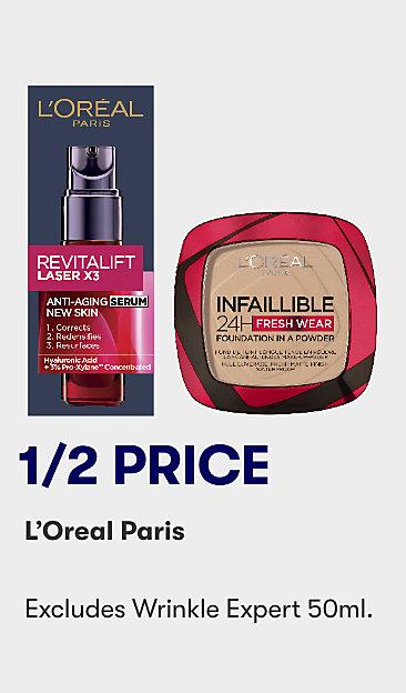 1/2 price L'Oreal Paris