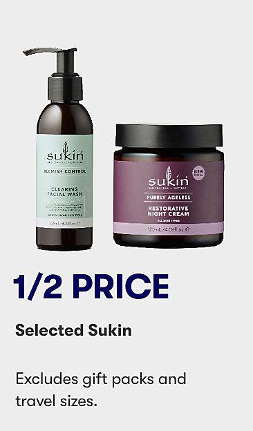 1/2 price selected Sukin
