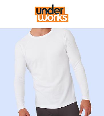 Underworks mens white thermals