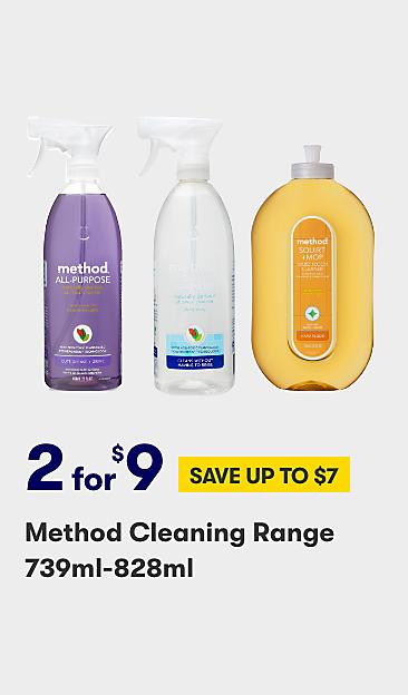 2 for $9 Method cleaning range