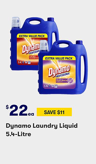 $22 Dynamo Laundry Liquid 5.4 Litre