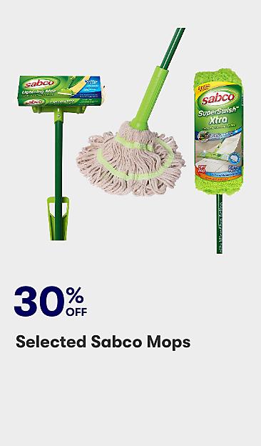 30% Selected Sabco mops