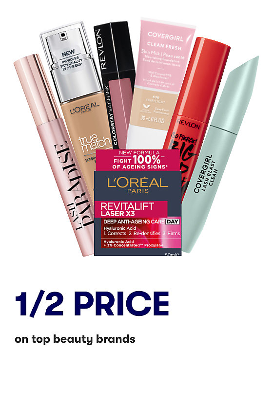 Save on selected beauty products