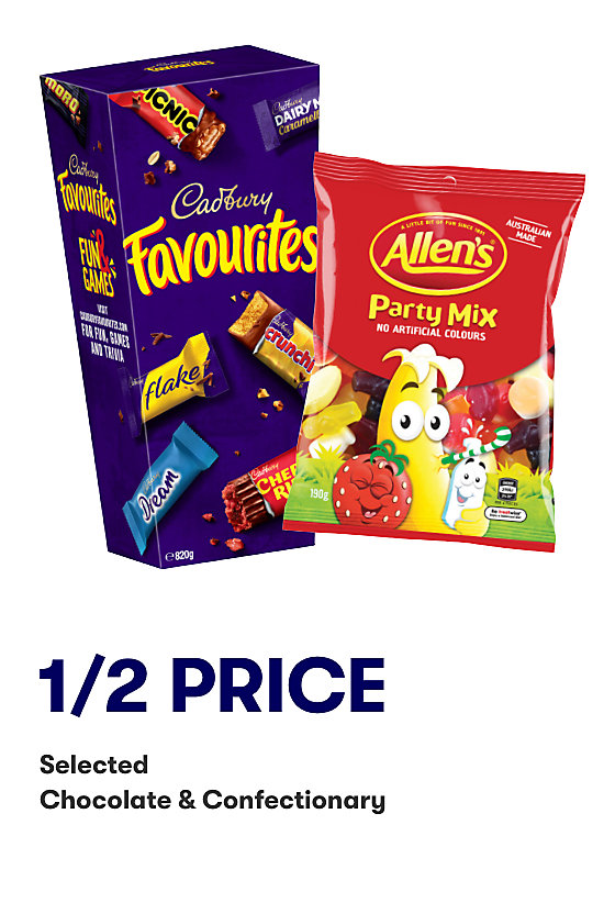 Half price selected chocolate and confectionary