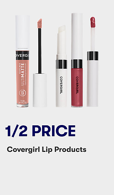 1/2 price Covergirl lip products