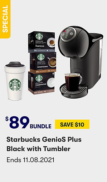 $89 bundle Starbucks GenioS Plus black with tumbler