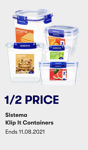 1/2 price Sistema Klip It containers