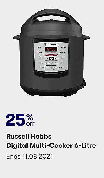 25% off Russell Hobbs Digital Multi Cooker 6 litre