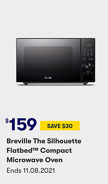 $159 save $30 Breville The Silhouette Flatbed Compact Microwave Oven