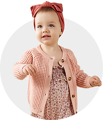 Dymples Baby Girl With Pink Cardigan