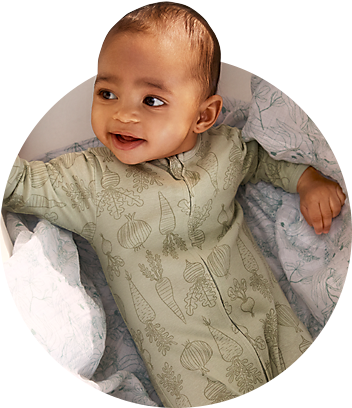 Dymples Baby Wearing Green Organic Coveralls