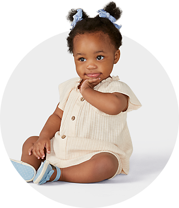 Dymples Baby Girl With Cream Top