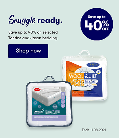 Snuggle Ready save up to 40% on Jason and Tontine bedding