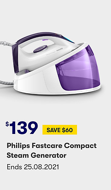 $139 save $60 Philips Fastcare compact steam generator