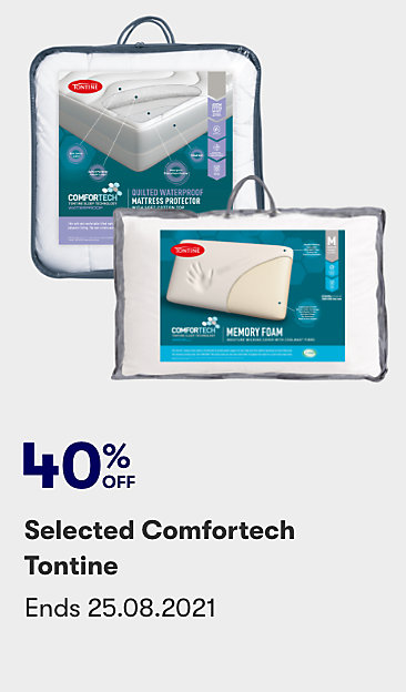 40% off selected Comfortech Tontine