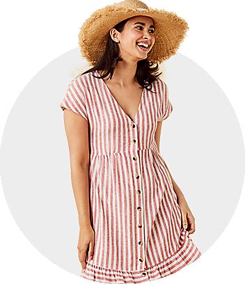 womens striped dress