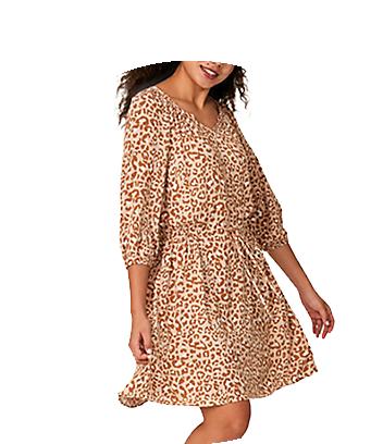 brilliant basics print dress
