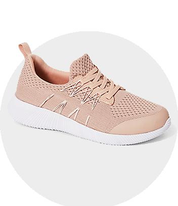 womens pink sport shoe