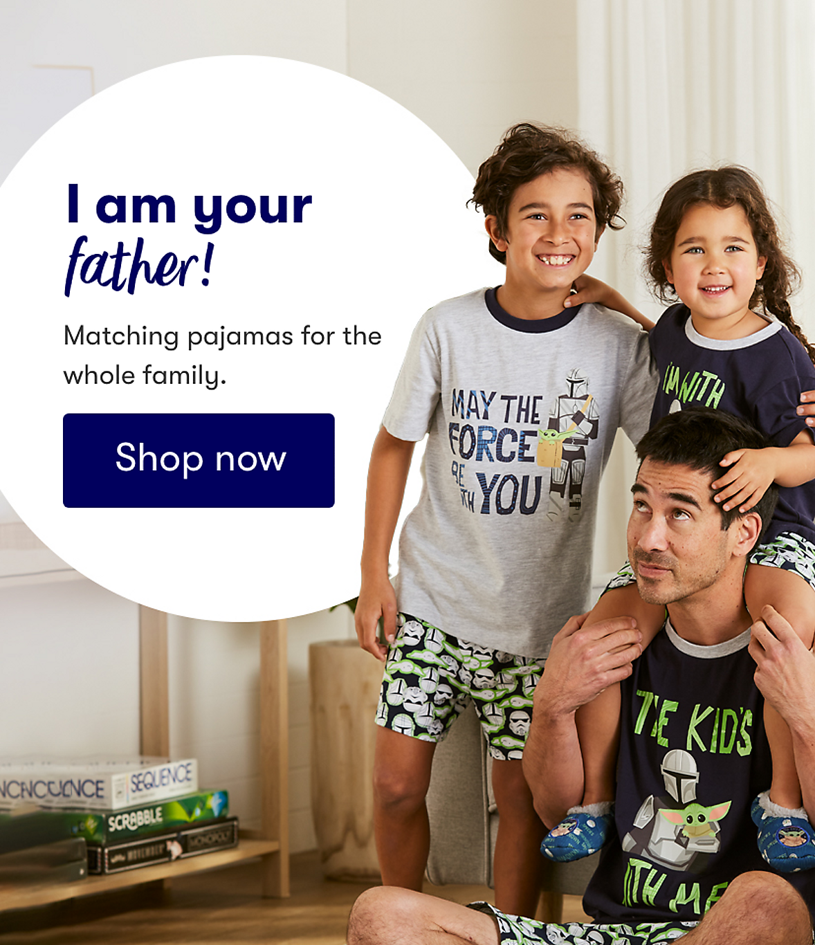 Matching pyjamas for the whole family