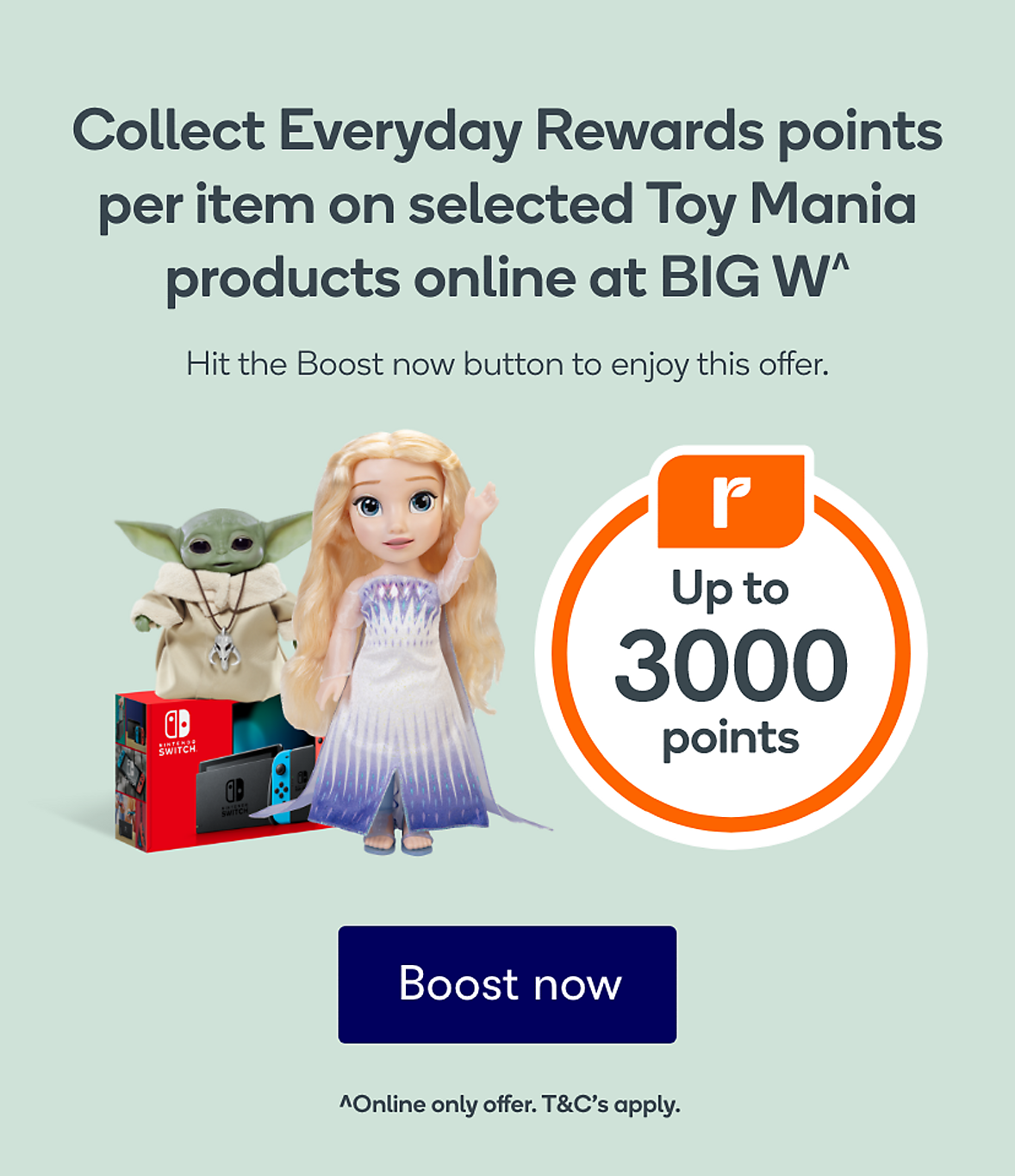 Collect Up to 3000 Bonus Points