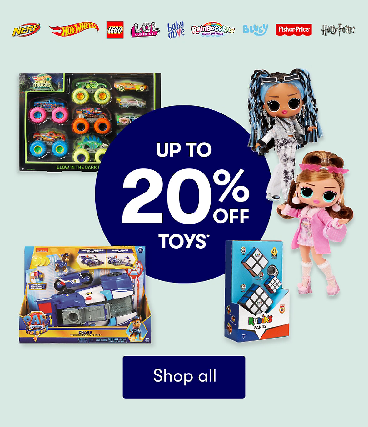 Up to 20% off Toys
