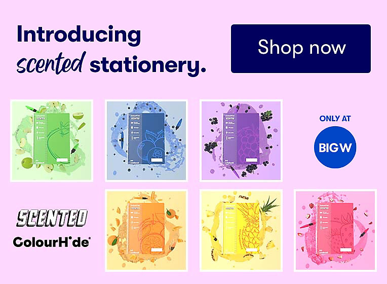 Introducing Scented Stationery by Colourhide, Only Available at BIG W