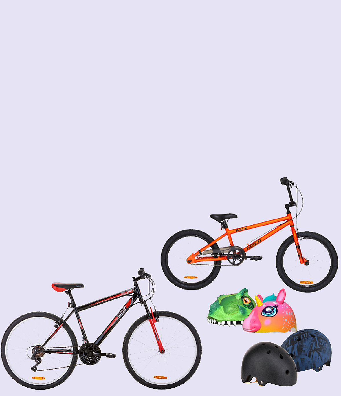Bikes and helmets for the whole family